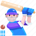 avatar, cricket, people, player, sports icon