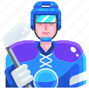 avatar, hockey, people, player, sport icon