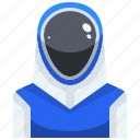 athlete, avatar, facing, fencer, sport, sporty icon