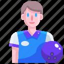 avatar, ball, bowling, game, player, sport