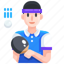 ball, ping, pong, racket, sport, table, tennis