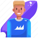 avatar, board, sport, sports, surf, surfing, water icon