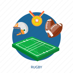 awards, ball, field, goal, rugby, sport, team icon