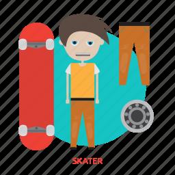 footwear, fun, leisure, shoe, skater, sport icon