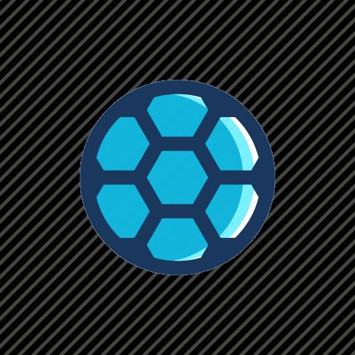 ball, blue, football, soccer, sport icon