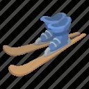 alpine, boots, mountain, ski, skis, sports, winter icon