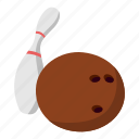 ball, bowling, drawing, fun, skittle, sport, white icon