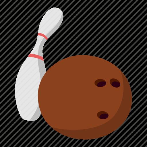ball, bowling, drawing, fun, skittle, sport, white icon
