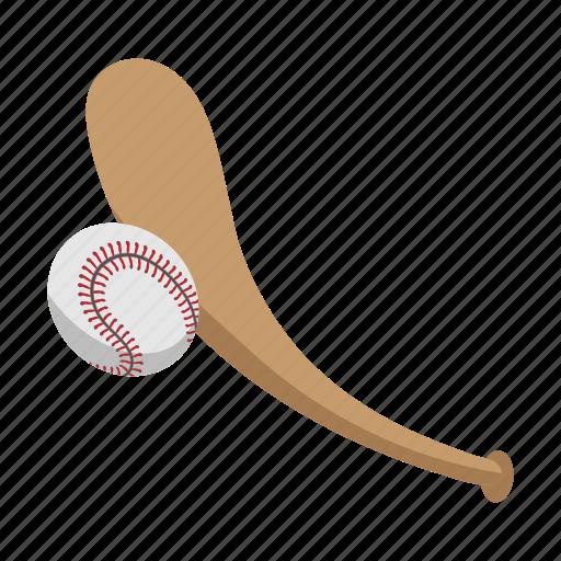 ball, baseball, baseball ball, baseball bat, bat, hit, team sports icon