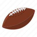american, ball, brown, football, oval, rugby, sport icon