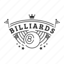 badge, billiards, emblem, sport icon