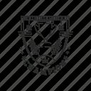 badge, champion, emblem, sport, trophy icon