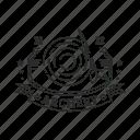archery, arrow, badge, emblem, sport icon