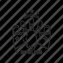 badge, bowling, emblem, sport icon