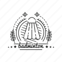badge, badminton, emblem, sport