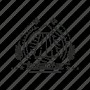 badge, badminton, emblem, sport icon