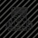 badge, emblem, golf, sport icon
