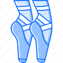 ballet, equipment, foot, leg, pointe, sport, training icon