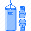 box, boxing, equipment, glove, pear, sport, training icon