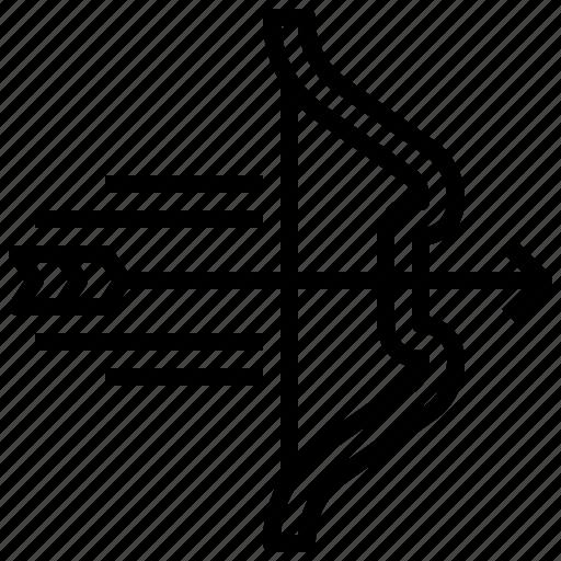 archery, arrow, bow, sports, weapon, weapons icon