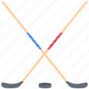 equipment, game, hockey, puck, sport, stick, training icon