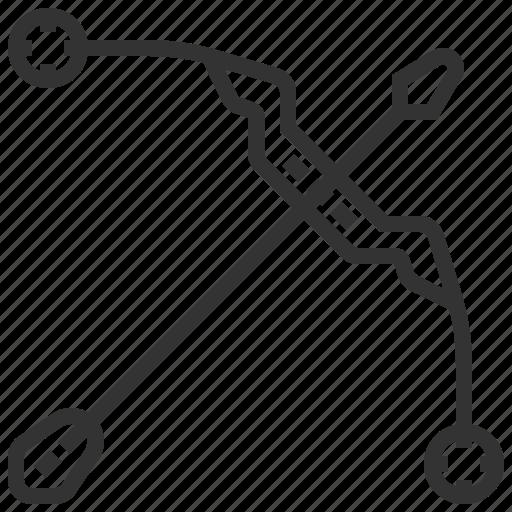 archery, arrow, arrows, location, navigation, pointer icon