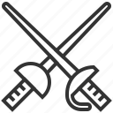 fencing, knife, sport, sword icon
