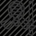 kendo, master, sport, spring icon