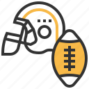 american, football, equipment, game, ball, sport icon