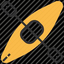 boat, canoe, equipment, kayak, sport icon