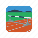 champion, competition, jump, obstacle, race, run, steeplechase icon