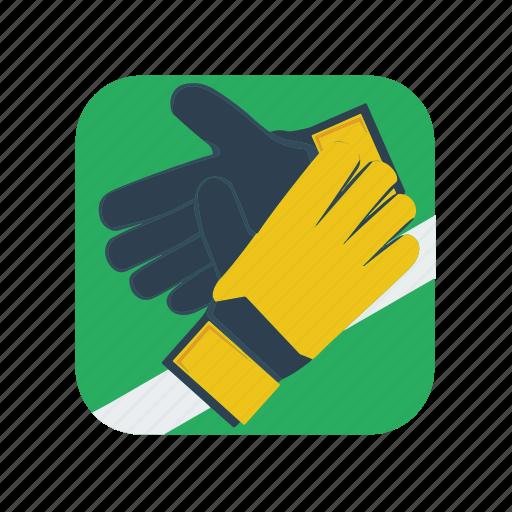 football, glove, gloves, goalie, goalkeeper, soccer, sport icon