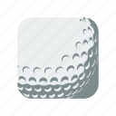 ball, equipment, golf, golfball, golfing, outdoor, sport icon