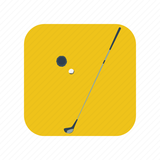 activity, club, golf, isolated, sport, steel, stick icon