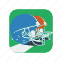 american, football, graphic, helmet, protect, sport, team icon