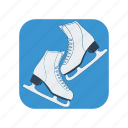 activity, boot, exercise, ice, skate, skates, winter icon