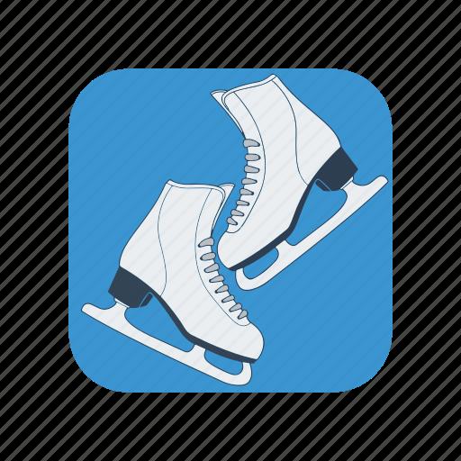 activity, boot, exercise, ice, skate, skates, winter icon