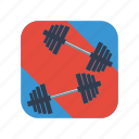 barbell, design, dumbbell, equipment, fitness, gym, sport icon