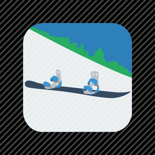 board, lifestyle, snow, snowboard, snowboarder deck, sport, vacation icon