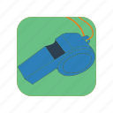 football, illustration, referee, sport, trainer, warning, whistle icon