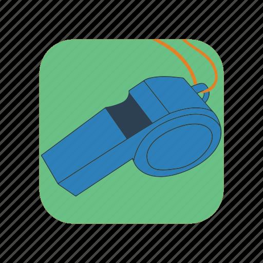 football, illustration, referee, sport, trainer, warning, whistle icon