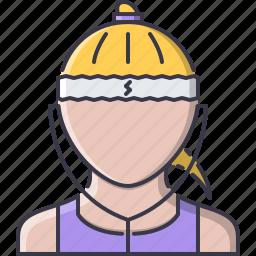 athlete, fitness, headphones, music, runner, sport, training icon