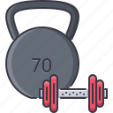 dumbbell, fitness, gym, sport, training, weight icon