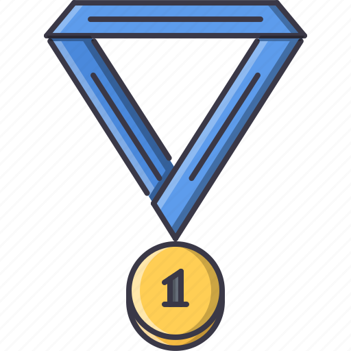 fitness, gym, medal, ribbon, sport, training icon