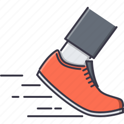 boot, foot, leg, run, speed, sport, training icon