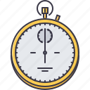 fitness, gym, sport, stopwatch, training icon