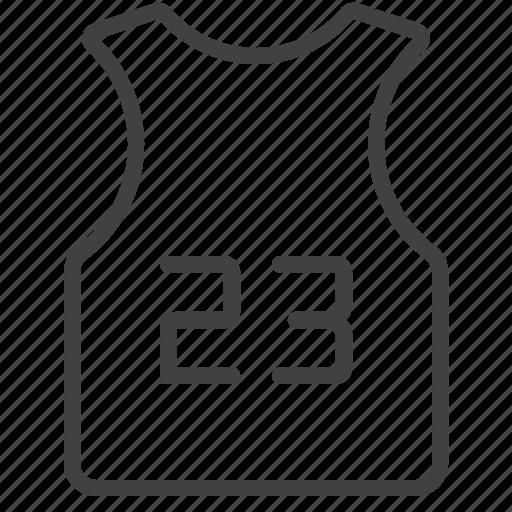 basketball, jersey, shirt icon