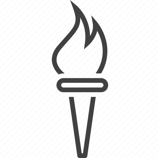 burning, fire, torch icon