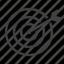 aim, dartboard, goal, target icon