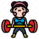 barbell, bodybuilding, fitness, gym, weight icon